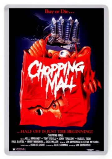 Chopping Mall Fridge Magnet. Cult 80's Horror